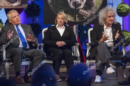 Ben Pullen, Fiona Harvey and Brian May