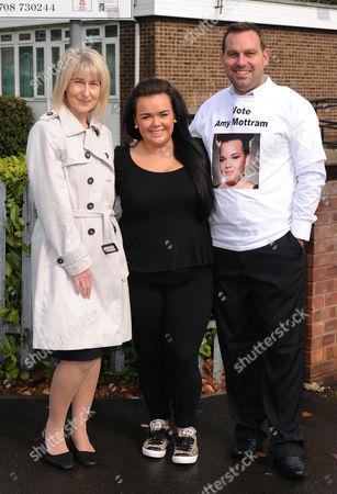 Amy Mottram with Head Teacher Mrs Morrison and Music teacher Mr. Aylett