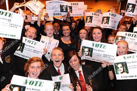 Editorial picture of The X Factor 'wildcard' Amy Mottram visits her old school, Bower Park School, Romford, Essex, Britain - 03 Oct 2012