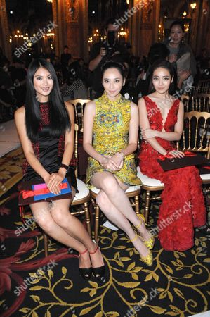 Miss World 2012 Yu Wenxia, Pace Wu and Shen Xing
