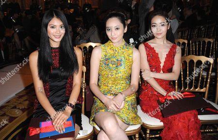 Miss World 2012 Yu Wenxia, Pace Wu and Shen Xing