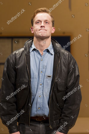 Jolyon Coy (Potential Officer Menzies) during the curtain call on Press Night