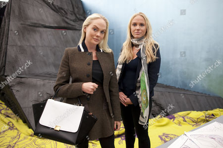 Picture shows Cecilie and Kathrine Fredriksen at the opening exhibition of  'A House to Die in' by Bjarne Melgaard