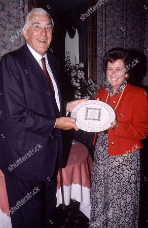 Editorial photo of Marmaduke Hussey presenting commemorative plate, Britain - 06 Sep 1991
