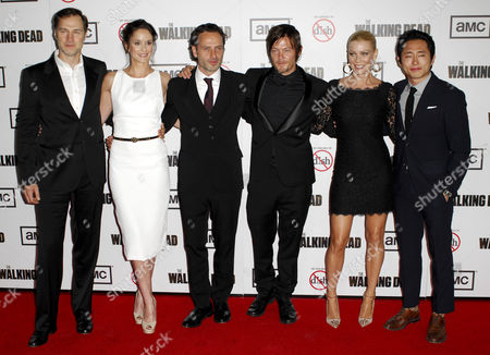 David Morrissey, Sarah Wayne Callies, Andrew Lincoln, Norman Reedus, Laurie Holden and Steven Yeun