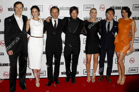 David Morrissey, Sarah Wayne Callies, Andrew Lincoln, Norman Reedus, Laurie Holden, Steven Yeun and Lauren Cohan