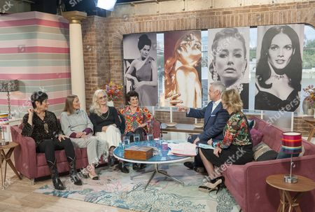 Martine Beswick, Tania Mallet, Shirley Eaton and Eunice Gayson with Eamonn Holmes and Ruth Langsford