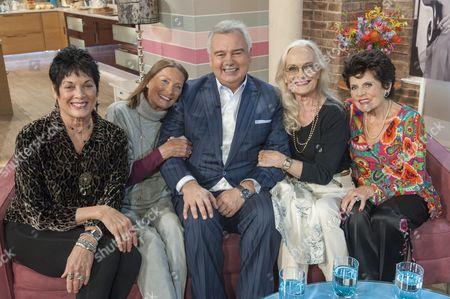 Martine Beswick, Tania Mallet, Eamonn Holmes, Shirley Eaton and Eunice Gayson