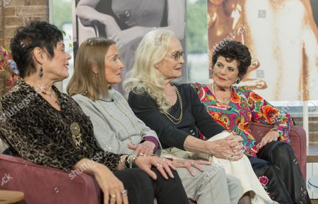 Martine Beswick, Tania Mallet, Shirley Eaton and Eunice Gayson