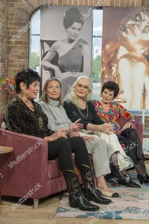 Stock Photo of Martine Beswick, Tania Mallet, Shirley Eaton and Eunice Gayson