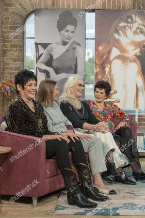 Stock Image of Martine Beswick, Tania Mallet, Shirley Eaton and Eunice Gayson