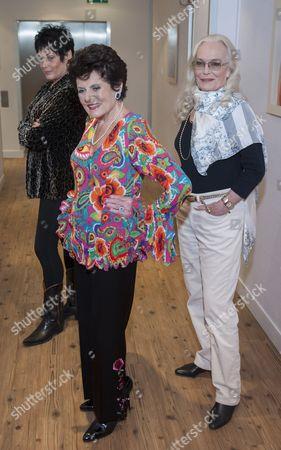 Martine Beswick, Eunice Gayson and Shirley Eaton