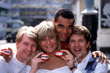 ANDY CRANE,GABY ROSLIN,NEIL BUCHANAN AND STEVE JOHNSON 1991