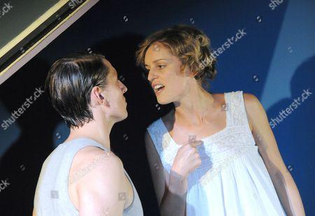 Denise Gough as Abbie and Morgan Watkins as Eben
