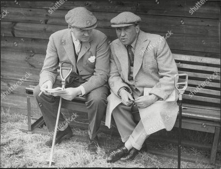 The 6th Earl Of Carnarvon On Bench With Sir Richard Sykes 1952.