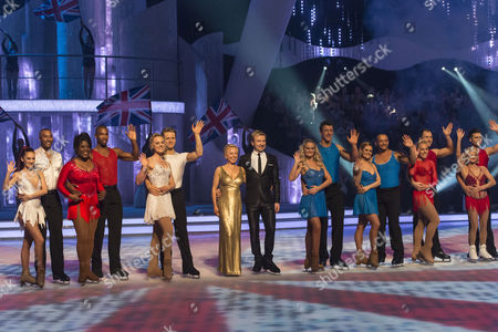Colin Jackson with his Pro Dancing partner Frankie Poultney, Tessa Sanderson with his Pro Dancing partner Yannick Bonheur, Pippa Wilson with her Pro Dancing partner Mark Hanretty, Jayne Torvill and Christopher Dean, Steve Williams with his Pro Dancing partner Katie Stainsby, Jamie Baulch with his Pro Dancing partner Maria Filippov, Gail Emms skating with her Pro Dancing partner Lukasz Rozycki and Olga Korbut with her Pro Dancing partner Matthew Gonzalez