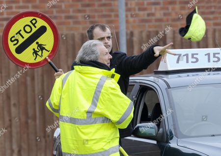 Stock Photo of Simon Gregson as Steve McDonald and Phillip Lowrie as Dennis Tanner