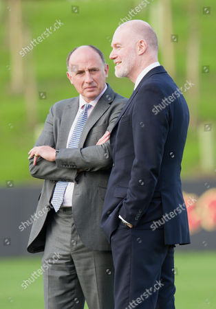 Stock Image of Jamie Lowther-Pinkerton and Paddy Haverson communications Secretary to The Prince of Wales
