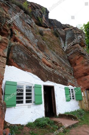 Holy Austin Rock Houses or cave dwellings at Kinver Adam Copeland England Uk