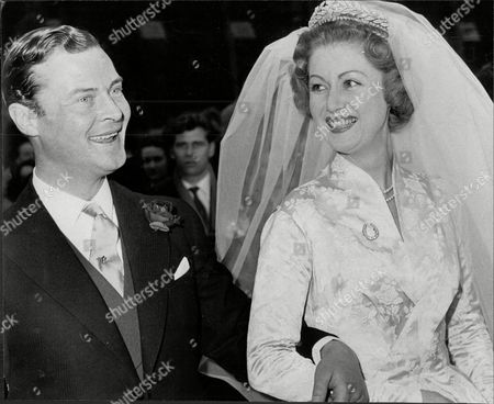 Wedding Of Politician Mp Lord Bathurst 8th Earl Bathurst And Bride Judith Mary Nelson (countess Bathurst) At St Margaret's Westminster Henry Allen John 8th Earl Bathurst Dl (1 May 1927 A 16 October 2011) Styled Lord Apsley From 1942 To 1943 Was A British Peer Soldier And Conservative Politician. He Was Most Recently Known For An Altercation With Prince William. Marriage : Judith Mary Nelson (1959 Adivorced 1976) With Whom The Earl Had Three Children Miss Gloria Clarry (feb 1978).