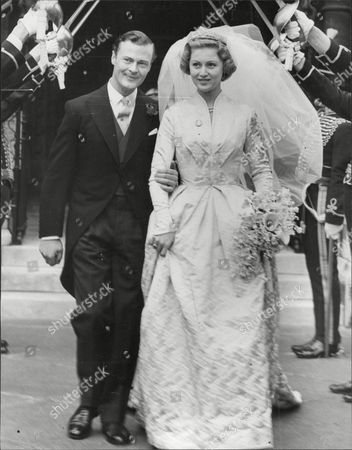 Wedding Of Politician Mp Lord Bathurst 8th Earl Bathurst And Miss Judith Mary Nelson (countess Bathurst) At St Margaret's Westminster Henry Allen John 8th Earl Bathurst Dl (1 May 1927 A 16 October 2011) Styled Lord Apsley From 1942 To 1943 Was A British Peer Soldier And Conservative Politician. He Was Most Recently Known For An Altercation With Prince William. Marriage : Judith Mary Nelson (1959 Adivorced 1976) With Whom The Earl Had Three Children Miss Gloria Clarry (feb 1978).