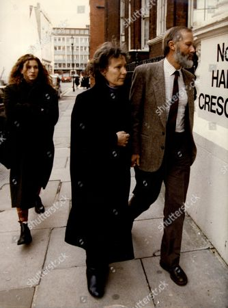 Stock Photo of Chris Bonington And His Wife At Knightsbridge Crown Court Where Their Son Is On A Robbery Charge.