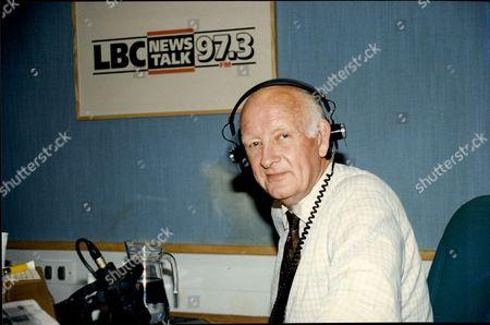 Frank Bough In The Studio's At Lbc Radio Station.