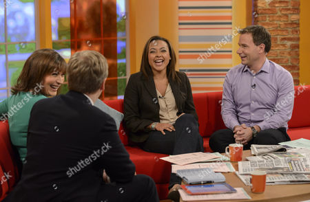 Presenters Aled Jones and Lorraine Kelly with Jaye Jacobs and Richard Arnold