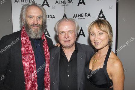 Jonathan Pryce (King Lear), Michael Attenborough (Artistic Director) and Karen Lewis