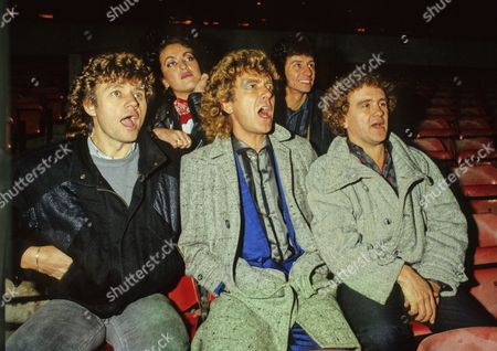 Wolverhampton Wanderers football fans Bev Bevan Robert Plant and Ian Sludge Lees at Molineux 1980