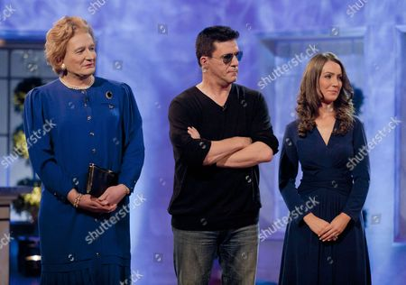 Stock Picture of Andrew Monk [Simon Cowell], Steve Nallen [Margaret Thatcher] and Heidi Agan [Kate Middleton]