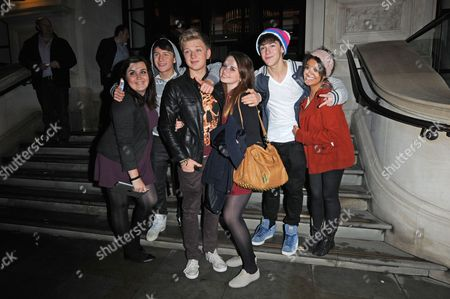 District 3 with fans -  Mickey Parsons (2nd l,