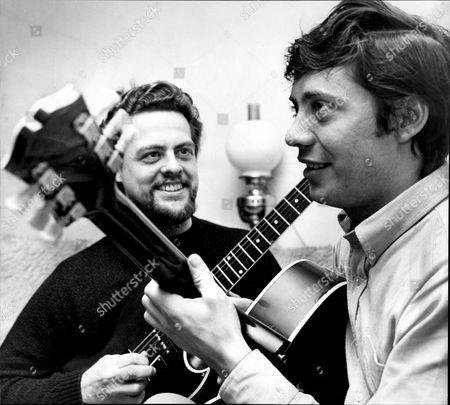 Editorial photo of Session Musicians Big Jim Sullivan (l) And Joe Moretti.