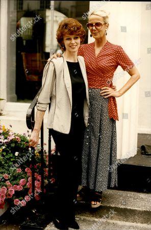 Actresses Gabrielle Drake And Georgina Hale (blonde).