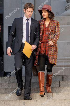 Editorial image of 'Gossip Girl' on set filming, New York, America - 12 Oct 2012
