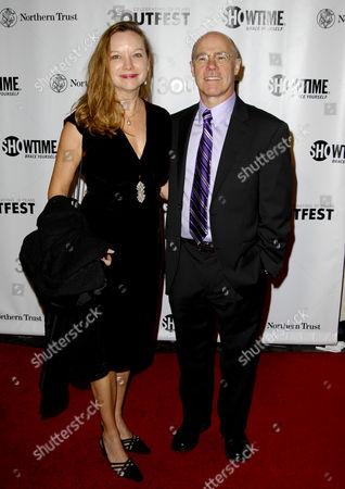 Stock Photo of Barry Livingston and wife Karen Huntsman
