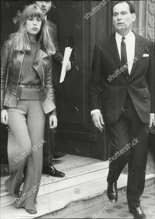 Jenny Boyd Model On Drug Charges Seen Here With Her Solicitor David Jacobs 1968.