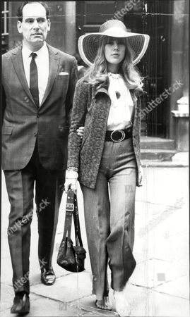 Jenny Boyd Model Charged With Drug Offences Here With Solicitor David Jacobs 1968.