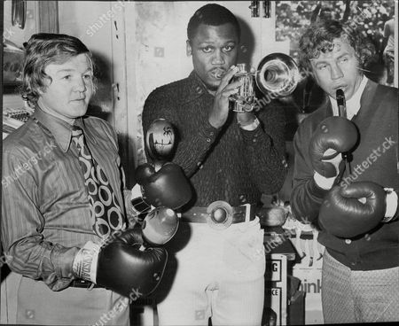Terry Downes Joe Frazier And Terry Spinkes Boxers.