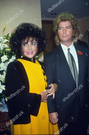 ELIZABETH TAYLOR WITH HUSBAND LARRY FORTENSKY