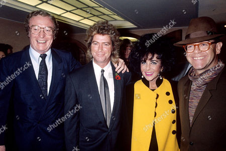 Larry Fortensky, Elizabeth Taylor and Sir Elton John