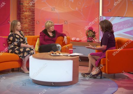 Megan Llewellyn Dorke and Kate Woolveridge with Lorraine Kelly