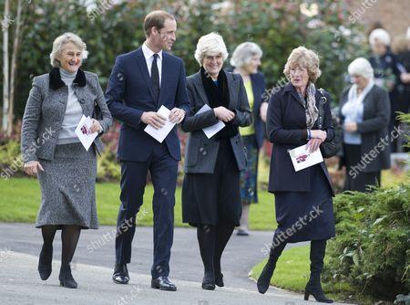 Editorial photo of Funeral of Olga Powell, Parndon Wood Crematorium, Harlow, Essex, Britain - 10 Oct 2012