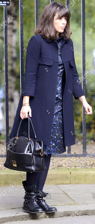 Isabel Spearman arriving for work at No10 Downing Street
