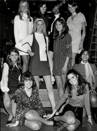 The Winners Of Search For An International Model Competition Sponsored By The Daily Mail Top Row Monica Webb Jarmila Kocvarova Marie Pollard Lorraine And Barbara Borgas. Centre Standing Linda Talady And Susan Beaumont. Centre Kneeling Marion Lucy And Lorraine Fraser Front Sitting Janice Adams And Beulah Hughes.