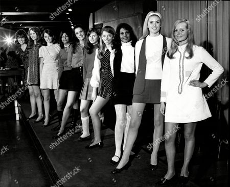 Daily Mail Search For International Models Contest Left To Right Janice Evelyn Adams Susan Beaumont Barbara Borgars Lorraine Frazer Beulah Hughes Jarmila Kocvarova Marion Lucy Marie Pollard Linda Talady And Monica Webb.