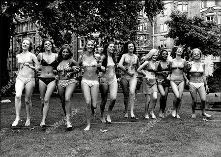 The New Models Contest Left To Right Linda Jacobs (20) Phillipa Street Mandy Carlson Susan Beaumont (20) Bridget Cornish (18) Arlene Silkstone Lynn Gray (19) Jean St Louise(20) Barbara Allen (22) And Susan Houghton(22).