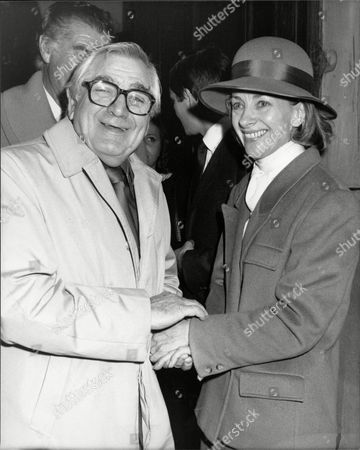 Editorial image of Harry Worth With Gwyneth Henderson At The Memorial Service For Her Husband The Comedian Dickie Henderson.