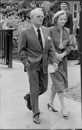 Dickie Henderson And Wife Gwyneth Henderson At The Funeral Of Eric Morecambe.