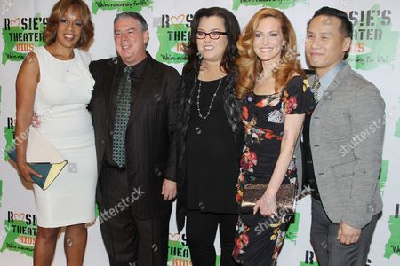 Gayle King, Rosie O'Donnell, Michelle Rounds and BD Wong